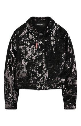 Джинсовая куртка с пайетками | Фото №1