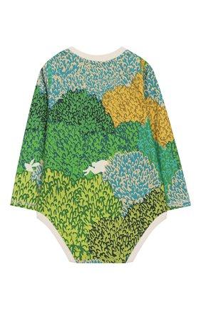 Детское хлопковое боди BURBERRY разноцветного цвета, арт. 8006249 | Фото 2