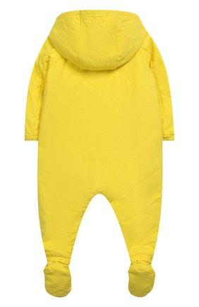 Детский комплект из хлопкового комбинезона с пинетками BURBERRY желтого цвета, арт. 8006758 | Фото 2