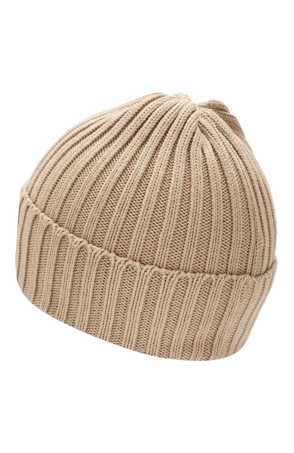 Хлопковая шапка Gucci бежевого цвета | Фото №2