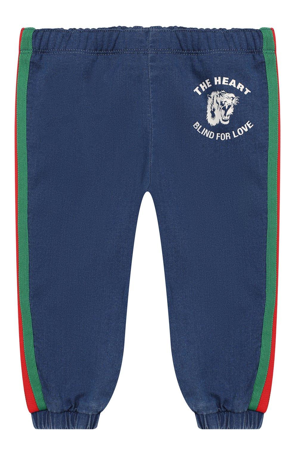 Детские джинсовые джоггеры GUCCI синего цвета, арт. 547187/XJAHD   Фото 1