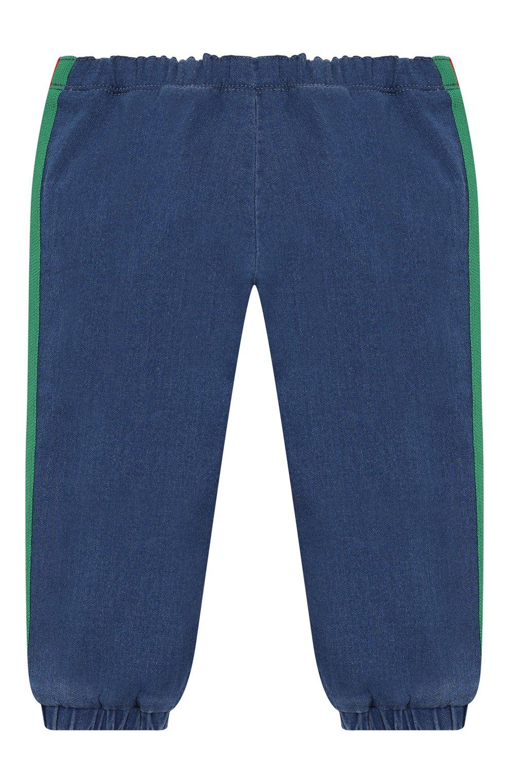 Детские джинсовые джоггеры GUCCI синего цвета, арт. 547187/XJAHD   Фото 2