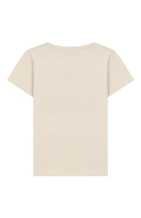 Детская хлопковая футболка GUCCI бежевого цвета, арт. 526775/X3074 | Фото 2