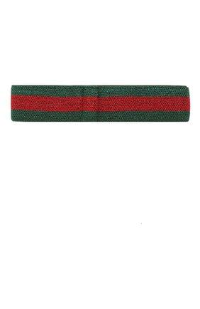 Детская повязка на голову GUCCI зеленого цвета, арт. 508438/4K087 | Фото 2