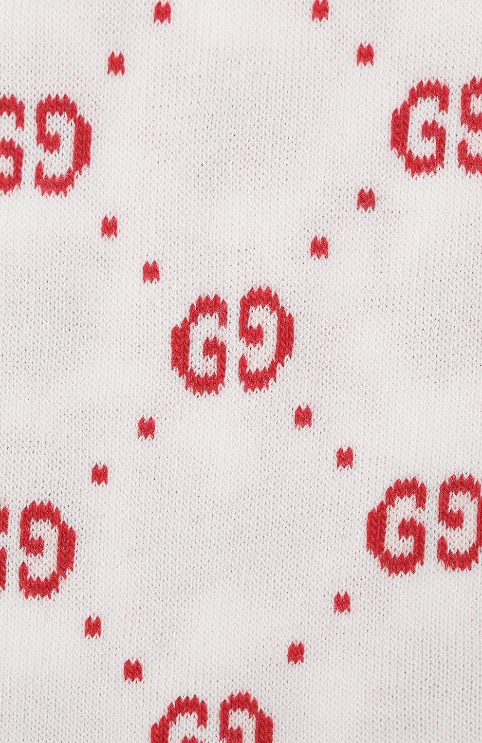 Детские хлопковые гольфы Gucci красного цвета | Фото №2