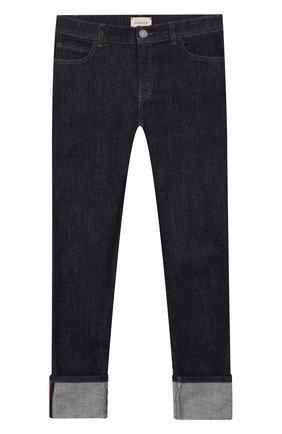 Детские однотонные джинсы GUCCI синего цвета, арт. 431161/XR224 | Фото 1