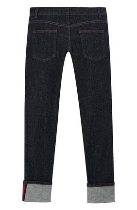 Детские однотонные джинсы GUCCI синего цвета, арт. 431161/XR224 | Фото 2