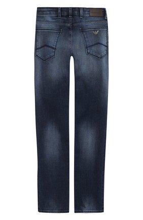 Детские джинсы прямого кроя EMPORIO ARMANI темно-синего цвета, арт. 3G4J06/1D4DZ | Фото 2