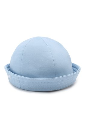 Хлопковая шляпа Emporio Armani голубого цвета | Фото №2