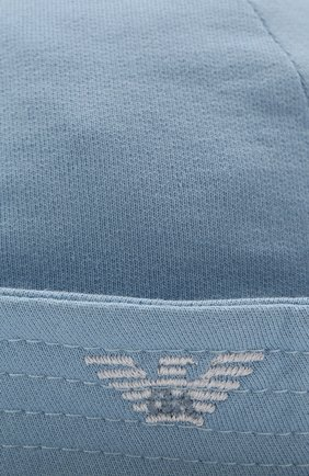 Хлопковая шляпа Emporio Armani голубого цвета | Фото №3