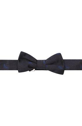 Детский галстук-бабочка из шелка EMPORIO ARMANI темно-синего цвета, арт. 409527/9P951 | Фото 1