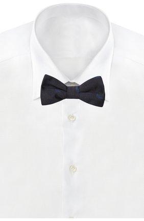 Детский галстук-бабочка из шелка EMPORIO ARMANI темно-синего цвета, арт. 409527/9P951 | Фото 2