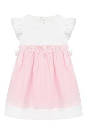 Женский хлопковое платье IL GUFO розового цвета, арт. P19VM526C0046/3M-9M | Фото 1