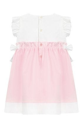 Женский хлопковое платье IL GUFO розового цвета, арт. P19VM526C0046/3M-9M | Фото 2
