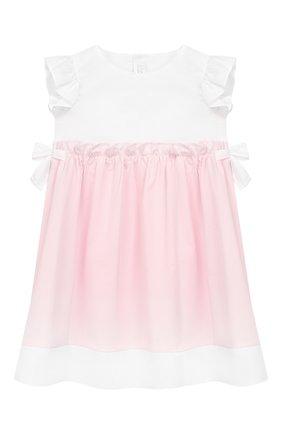 Женский хлопковое платье IL GUFO розового цвета, арт. P19VM526C0046/12M-18M | Фото 1