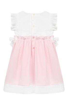 Женский хлопковое платье IL GUFO розового цвета, арт. P19VM526C0046/12M-18M | Фото 2