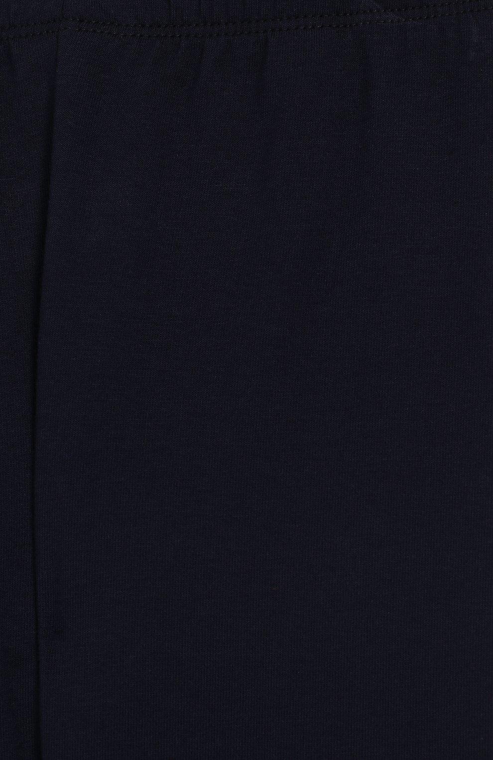 Детские хлопковые леггинсы Il Gufo темно-синего цвета | Фото №3