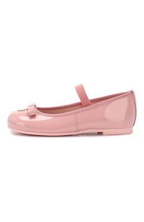 Детские кожаные балетки с перемычкой PRETTY BALLERINAS розового цвета, арт. 46.947/SHADE | Фото 2
