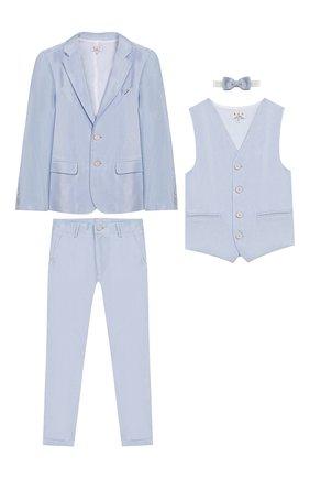 Комплект из пиджака с брюками и жилета с бабочкой | Фото №1