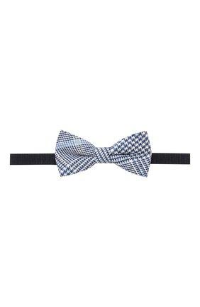 Детский галстук-бабочка из хлопка и льна ALETTA голубого цвета, арт. NA99114A | Фото 1
