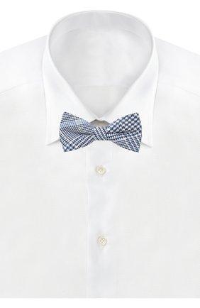 Детский галстук-бабочка из хлопка и льна ALETTA голубого цвета, арт. NA99114A | Фото 2