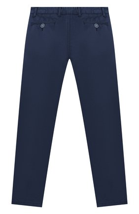 Детские хлопковые брюки ALETTA темно-синего цвета, арт. N88126T/4A-8A | Фото 2