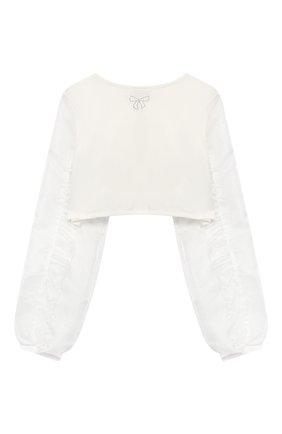 Детский хлопковое болеро ALETTA белого цвета, арт. AS99047/4A-8A | Фото 2