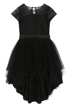 Платье асимметричного кроя с поясом | Фото №1