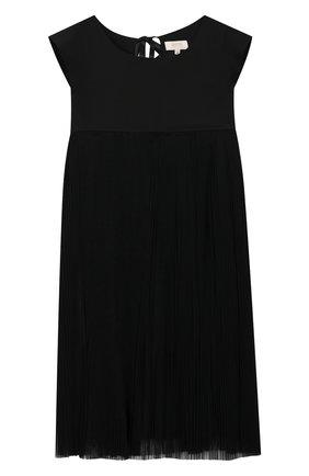 Детское платье из вискозы ALETTA черного цвета, арт. AE99077/4A-8A | Фото 1