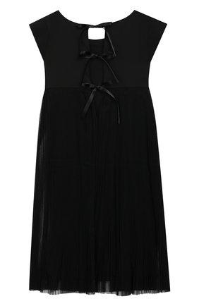 Детское платье из вискозы ALETTA черного цвета, арт. AE99077/4A-8A | Фото 2