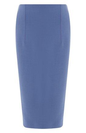 Женская юбка-карандаш BOSS голубого цвета, арт. 50400506 | Фото 1