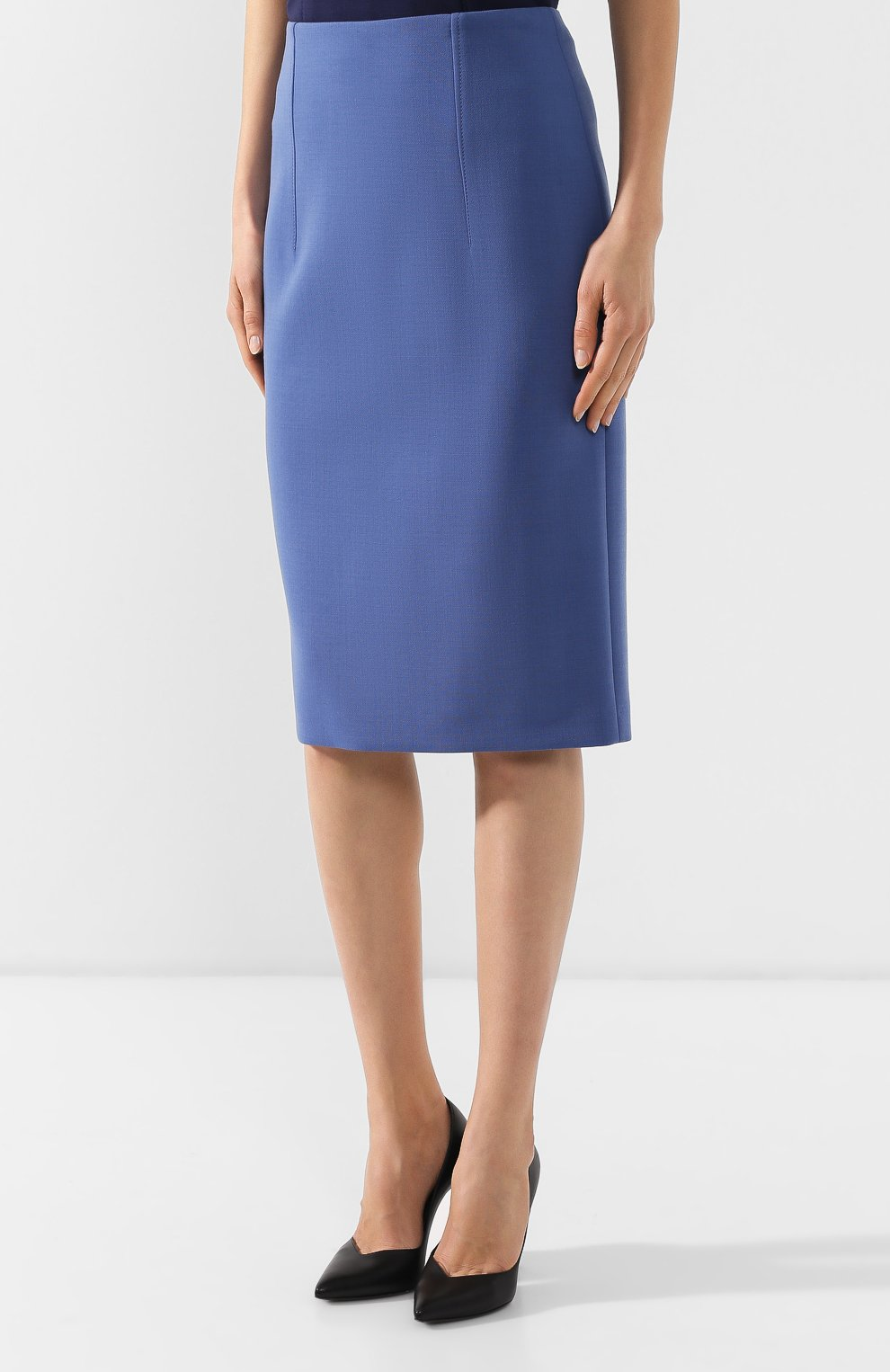 Женская юбка-карандаш BOSS голубого цвета, арт. 50400506 | Фото 3