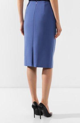 Женская юбка-карандаш BOSS голубого цвета, арт. 50400506 | Фото 4
