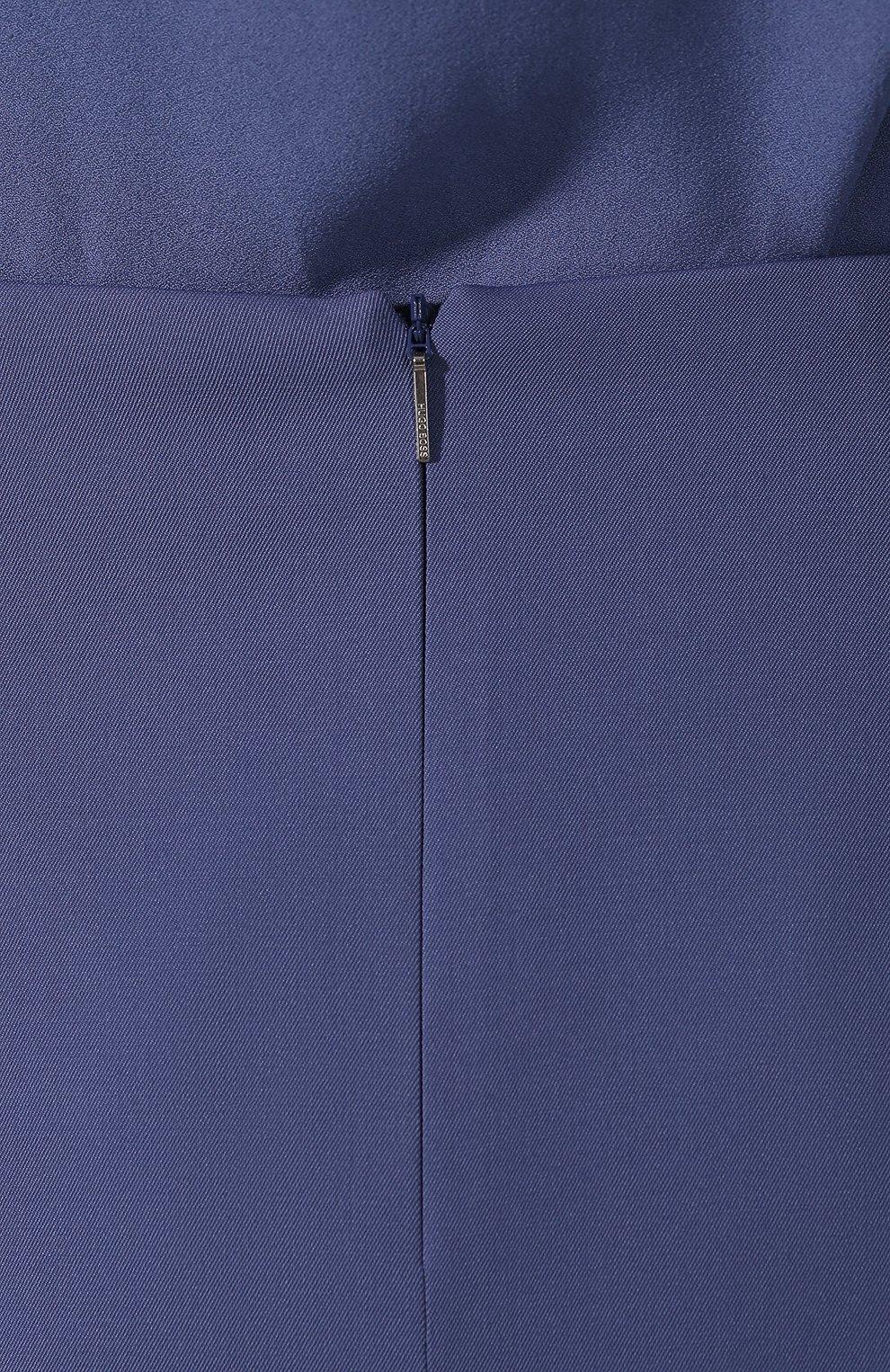 Женская шерстяная юбка BOSS голубого цвета, арт. 50400501   Фото 5