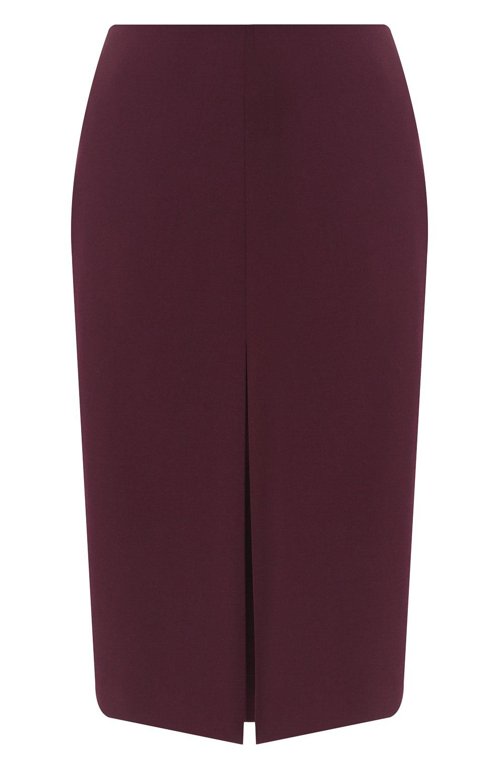 Женская шерстяная юбка BOSS бордового цвета, арт. 50400501 | Фото 1