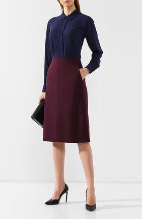 Женская шерстяная юбка BOSS бордового цвета, арт. 50400501 | Фото 2