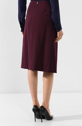 Женская шерстяная юбка BOSS бордового цвета, арт. 50400501 | Фото 4