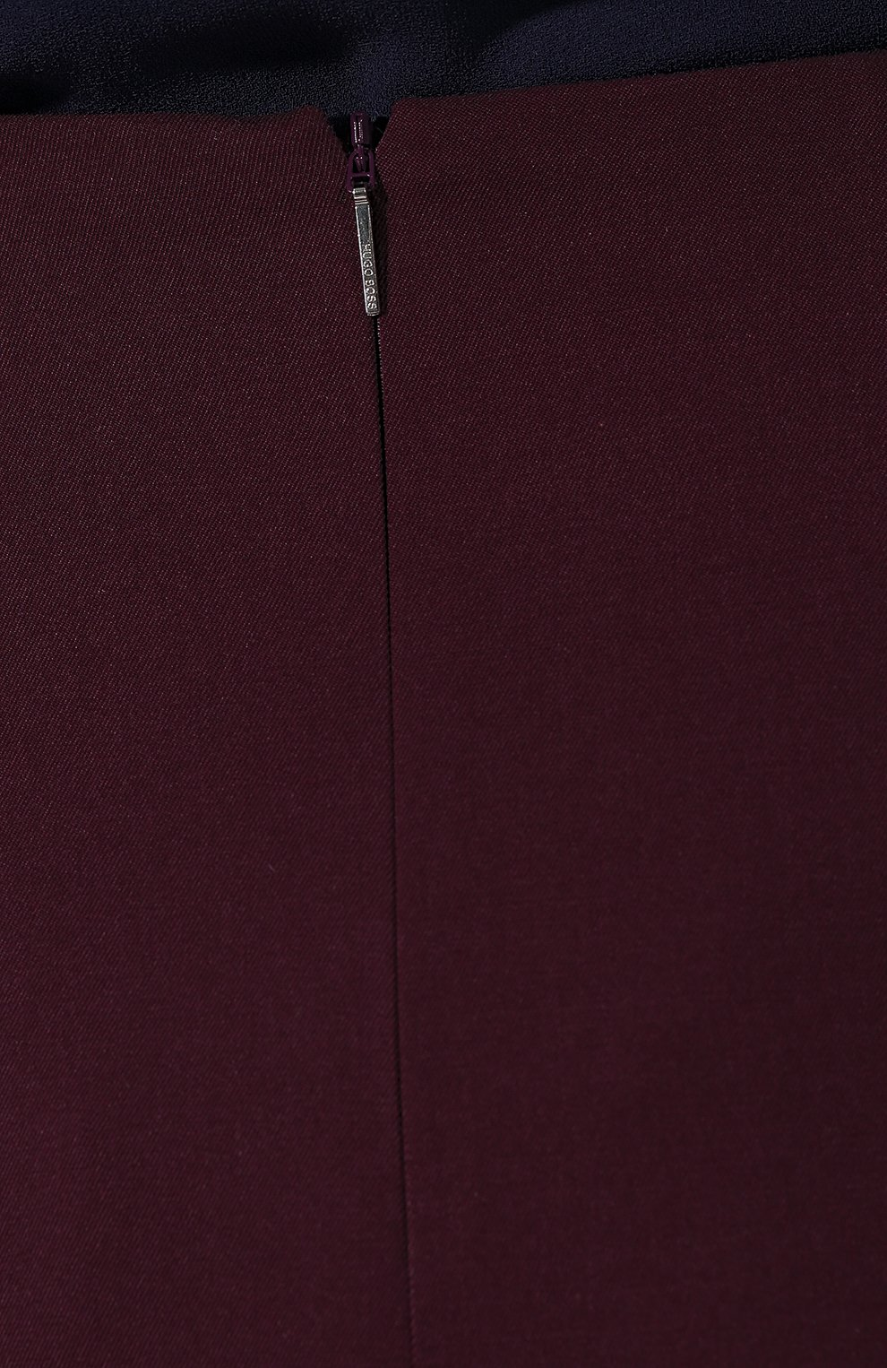 Женская шерстяная юбка BOSS бордового цвета, арт. 50400501 | Фото 5