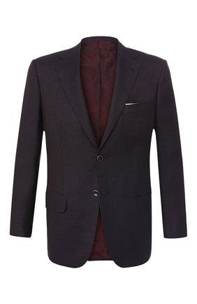 Мужской кашемировый пиджак KITON бордового цвета, арт. UG81K01R65 | Фото 1