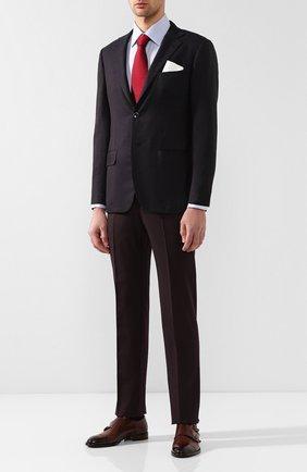 Мужской кашемировый пиджак KITON бордового цвета, арт. UG81K01R65 | Фото 2
