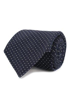 Мужской галстук из смеси шерсти и шелка KITON темно-синего цвета, арт. UCRVKLC03F42 | Фото 1