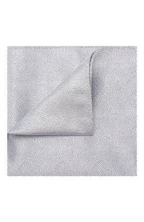 Мужской шелковый платок GIORGIO ARMANI серого цвета, арт. 360023/9P937 | Фото 1