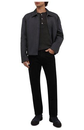 Мужская хлопковый лонгслив RRL темно-серого цвета, арт. 782504859 | Фото 2