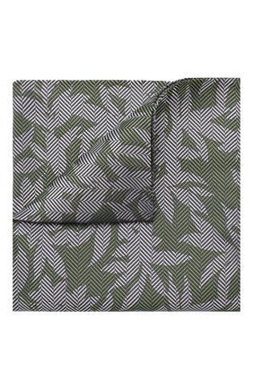 Мужской шелковый платок GIORGIO ARMANI зеленого цвета, арт. 360023/9P936 | Фото 1