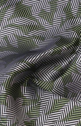 Мужской шелковый платок GIORGIO ARMANI зеленого цвета, арт. 360023/9P936 | Фото 2
