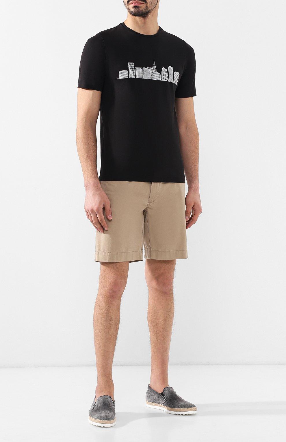 Мужские текстильные слипоны TOD'S темно-серого цвета, арт. XXM0TV0K900Y01 | Фото 2