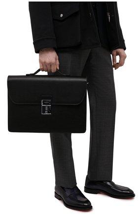 Мужской кожаный портфель stuoia CANALI черного цвета, арт. P325340/NA00053 | Фото 2