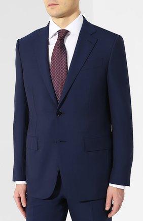 Мужской шерстяной костюм ERMENEGILDO ZEGNA синего цвета, арт. 511504/221225 | Фото 2