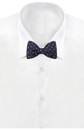 Мужской шелковый галстук-бабочка LANVIN синего цвета, арт. 1303/B0W TIE | Фото 2