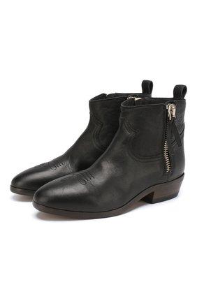 Кожаные ботинки Viand на устойчивом каблуке | Фото №1